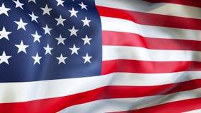 Avfärda flaggan av USA Royaltyfri Bild