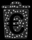 Avfall för euro för signalljusingrepp 2D med ljusa fläckar vektor illustrationer