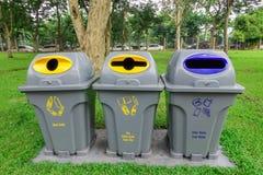 Avfall som sorterar avfallsen för förfogande Royaltyfria Bilder