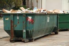 Avfallavfallscontainer Arkivbilder