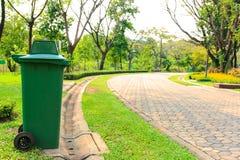 Avfallgräsplanen Arkivfoton