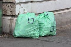 Avfallpåsar Arkivfoto