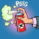 Avfalls för kemikalie för attackskenmanövergiftgas vektor illustrationer