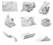 avfalls för papper för bollfrustrationkontor Arkivbilder