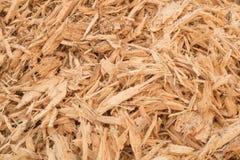 Avfalls för trä för bakgrundsbild, trächiper arkivfoto
