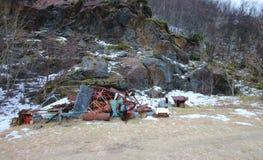 Avfalls i natur Arkivbilder