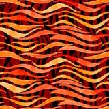 Avfyra den sömlösa modell-modellen för flammavattenfärgvektorn för designnolla Royaltyfria Bilder