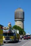 Avfyra och rädda representanter på Ypsilantien, MI 4th Juli Royaltyfria Bilder