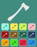 Avfyra yxasymbolen med färgvariationer, vektor Royaltyfri Fotografi