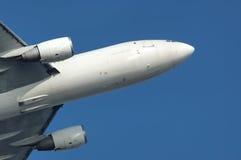avgå för flygplan Arkivbild
