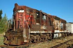 avgådd lokomotiv arkivbilder