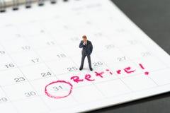 Avgångmål eller planera för att avsluta jobb eller finansiell frihet arkivbild