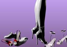 Avgöra vilka skor för att bära Arkivfoto