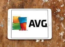 AVG technologii firmy logo Zdjęcie Stock