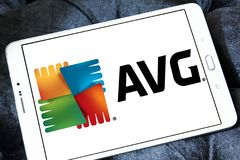 AVG technologii firmy logo Obrazy Stock