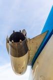 Avgasrör för motor för Air France KLM Fokker 100 Arkivfoton
