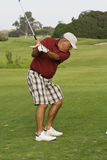 avgådd golfare Royaltyfri Bild