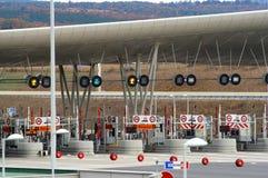 Avgift av motorwayen royaltyfri fotografi