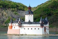 avgift för station för germany kaubpfalzgrafenstein Royaltyfria Bilder