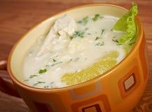 Avgolemono or egg-lemon Stock Photo