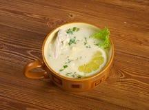 Avgolemono or egg-lemon Royalty Free Stock Images