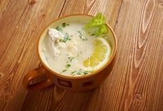 Avgolemono or egg-lemon Stock Image