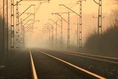 avgrundjärnväg royaltyfria bilder