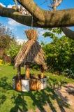 Aviário para pássaros na árvore Foto de Stock Royalty Free
