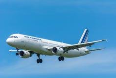 Avião Air France F-GTAK Airbus A321-200 Fotografia de Stock