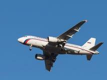 Avião Airbus A319 do passageiro, a linha aérea Rússia Imagens de Stock Royalty Free