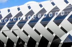 Avião Airbus A350 XWB da demonstração Rússia, Moscovo Em julho de 2017 Imagem de Stock Royalty Free