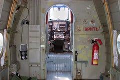 Avião Antonov 2 da cabina do piloto Fotografia de Stock Royalty Free