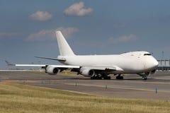 Avião branco Imagem de Stock