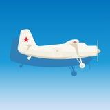 Avião branco Foto de Stock