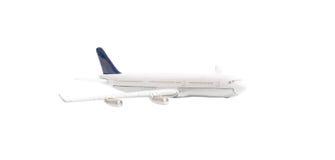 Avião branco isolado Fotos de Stock Royalty Free