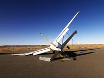 Avião causado um crash imagens de stock