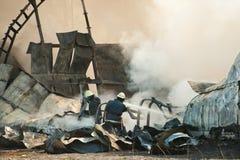 Avião causado um crash Fotos de Stock Royalty Free