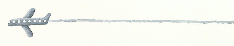 Avião cinzento Fotografia de Stock Royalty Free