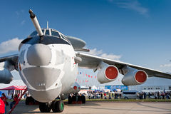 Avião civil branco da carga Foto de Stock