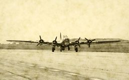 Avião clássico do bombardeiro fotos de stock