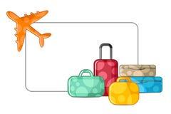 Avião com bagagem Fotografia de Stock Royalty Free