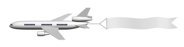 Avião com bandeira Fotografia de Stock