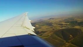 Avião comercial video estoque