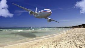 Avião comercial Imagens de Stock