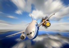 Avião comercial Fotos de Stock