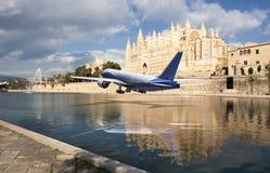 Avião comercial Imagem de Stock Royalty Free