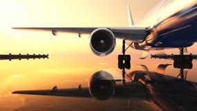 Avião comercial Imagem de Stock