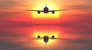 Avião comercial Foto de Stock Royalty Free