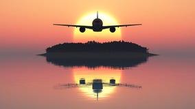 Avião comercial Fotografia de Stock Royalty Free