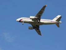 Avião comercial Airbus A319, Rússia Fotos de Stock